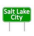 Salt Lake City green road sign vector image