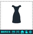 Dress icon flat vector image