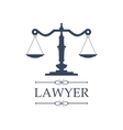 Lawyer icon of Justice scales emblem vector image