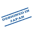 Designed In Japan Watermark Stamp vector image