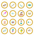 virus cartoon icon circle vector image