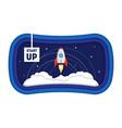 cartoon symbol start up concept space ship rocket vector image