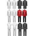 Set of various work clothes vector image vector image