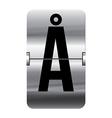 Alphabet silver flipboard letters aa vector image vector image