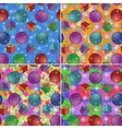 Christmas backgrounds with gifts and balls vector image