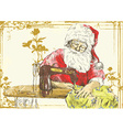 Christmas theme - Santa Claus vector image