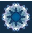 Christmas circle crystal ornament vector image