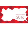 Christmas 2016 Rose red colored vector image
