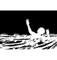 Man drowning vector image