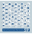 Set of summer flat icons vector image