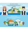 Greece Travel Banner Set vector image