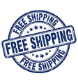 free shipping blue grunge round vintage rubber vector image