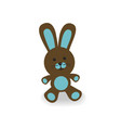 brown and blue bunny vector image