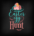 easter egg hunt greeting card design vector image