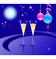 Glasses of a champagne vector image
