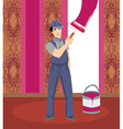 Professional smiling painter vector image