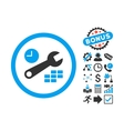 Date and Time Configuration Flat Icon with vector image