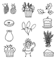 Hand draw collection thanksgiving on doodles vector image