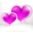 Heart shaped bubbles EPS8 vector image vector image