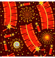 chinese fireworks seamless pattern for backg vector image