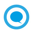 blue symbol with chat bubble icon vector image
