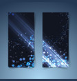 bright glowing abstract vertical banners vector image vector image