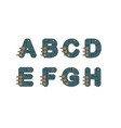 technology font set vector image