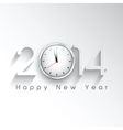 Happy New Year background with a clock design vector image