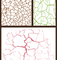 cracked set vector image vector image