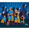 Family Of Superheroes Together Poster vector image vector image