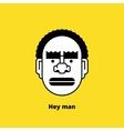 Character design black angry man avatar vector image