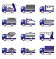Different types of trucks vector image