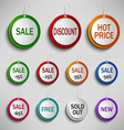Round color labels tags for shopping vector image