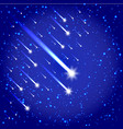Space background with stars and comets vector image