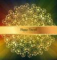 beautiful diwali greeting floral ornaments vector image
