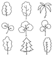 Doodle of simple tree hand draw vector image