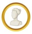 Sculpture head of woman icon vector image