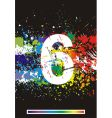 paint splashes font vector image vector image