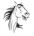 horse neighs vector image