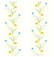 watercolor flowers spring seamless pattern vector image