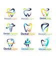 Dental Dentist Logo Set vector image