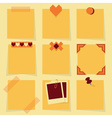 Blank sticky notes icons set vector image