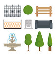 city and park elements set vector image