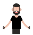 man standing icon vector image