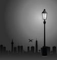 street lights and the city color vector image