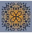 Symmetrical pattern made of blobs Ink pattern on vector image