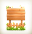 Wooden sign in grass vector image