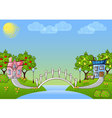 background cartoon house vector image vector image