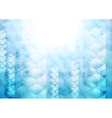 Bright blue tech geometric background with cubes vector
