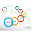 Infographic light timeline report template with vector image vector image